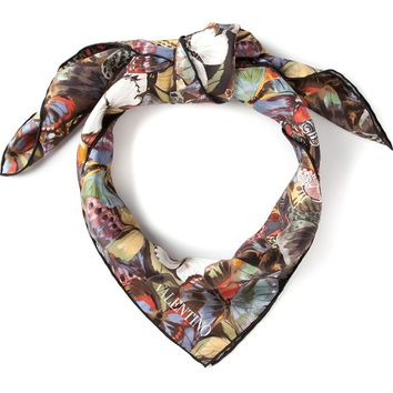 Valentino butterfly print scarf