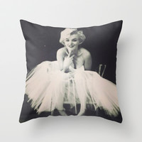 Marilyn Monroe Tutu Throw Pillow by LuxuryLivingNYC