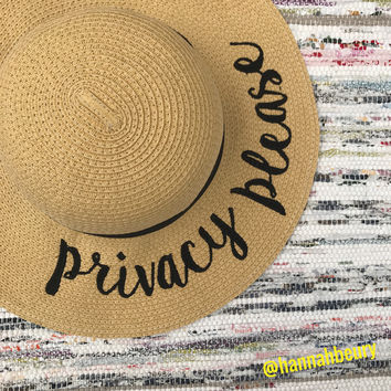 """Privacy Please"" Floppy Beach Hat"