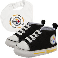 Pittsburgh Steelers NFL Infant Bib and Shoe Gift Set