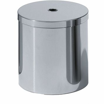 DW 115 Round Trash Can, Stainless Steel Wastebasket W/ Lid Cover