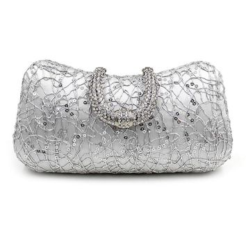Cross Section Square Bag Clutch Bag Evening Bag Crystal Bling Handbag Gems Purse Wedding Bag For Women With Detachable Chain