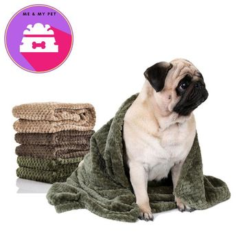 Flannel Absorbent Pet Supplies Towel Dog Bath Towels Blanket Carpet Quick Dry Towel Bathrobes For Puppy Cat Coffee Beige Green