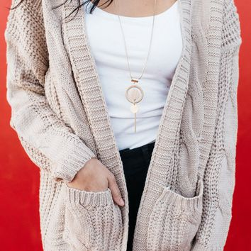 Ellie Cable Knit Cardigan
