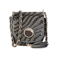 Cavalli Class Grey Crossbody Bag