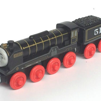 RARE NEW HIRO &TRUCK Original Thomas And Friends Wooden Magnetic Railway Model Train Engine Boy Kids Toy Christmas Gift