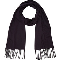 River Island MensNavy brushed woven scarf