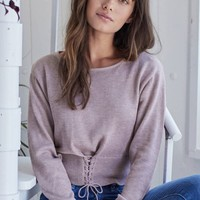 Therese Corsette Tie Sweater