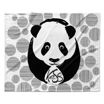 "KESS Original ""Panda"" Fleece Throw Blanket"