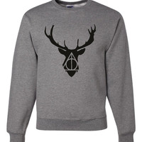 Deer Deathly Hallows Shirt Harry Potter Crewneck sweatshirt Great potter Fan Sweatshirt Unisex