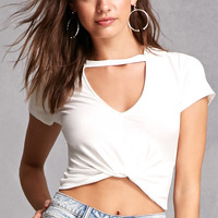 Choker Neck Crop Top
