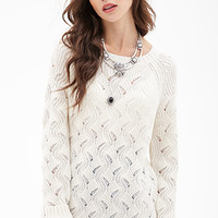 FOREVER 21 Oversized Wavy-Knit Sweater