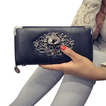 Long Metal Casual Wallets for Women