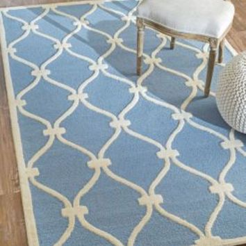 Rugs USA Savanna Trellis VE21 Blue Rug