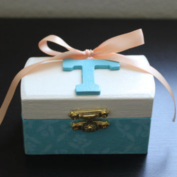 Custom Handmade Wedding Trinket Box for Bridesmaid, Flower Girl, Mother of Bride, Maid of Honor, Favors...