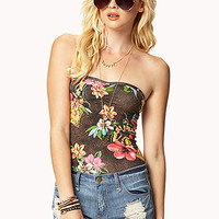 FOREVER 21 California Postcard Bodysuit Black/Multi