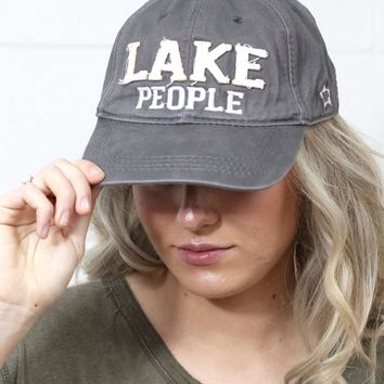 Lake People Distressed Cap {Grey}