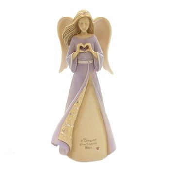 Foundations CAREGIVER HEART ANGEL Polyresin Aide Support Needs 6004089