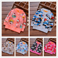 2016 childern clothing outerwear Baby boys girls cartoon winter sweater Baby thick velvet cardigan sweater