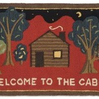 Welcome to the Cabin Hooked Wool Rug 2' X 3'
