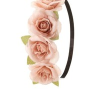 Blush Rose Flower Crown Head Wrap by Charlotte Russe