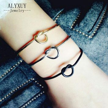 New fashion accessories jewelry copper lock cuff bangle for women girl nice gift