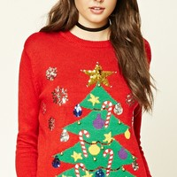 Light-Up Holiday Tree Sweater