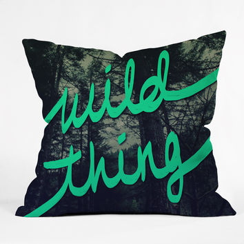 Leah Flores Wild Thing 1 Throw Pillow