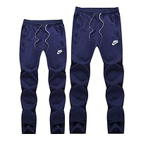 NIKE Popular Women Men Casual  Sport Pants Trousers Blue