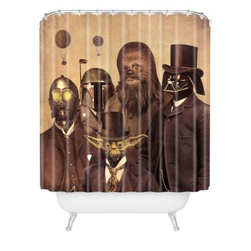 Terry Fan Victorian Wars Shower Curtain