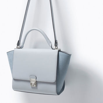 f0d03fa961 Combined city bag with buckle from ZARA