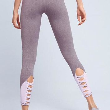 Contrast Color Cut Out Leggings