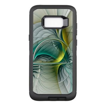 Fractal Evolution, Golden Turquoise Abstract Art OtterBox Defender Samsung Galaxy S8+ Case