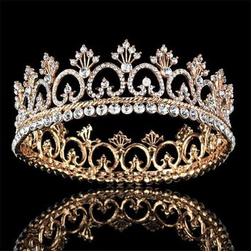 Cool Princess Queen King tiara Crown Bridal Wedding Tiaras Crowns Headdress Women Birthday Gifts Bride Hair accessoriesAT_93_12