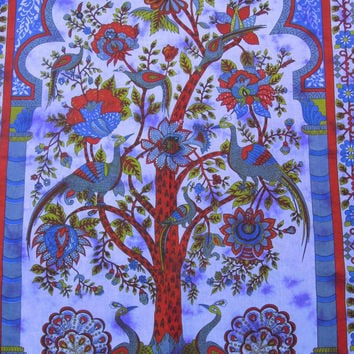 Hippie Hippy Tree of Life Tapestry, Indian Tapestry, Throw Wall Hanging Decor Art, Tree of Life Bedcover, Picnic Blanket, Bohemian Tapestry