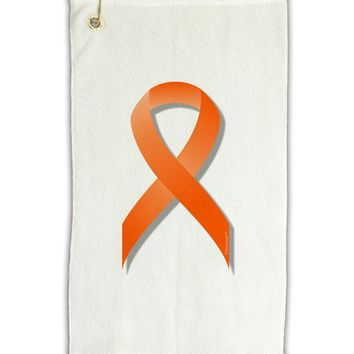 "Leukemia Awareness Ribbon - Orange Micro Terry Gromet Golf Towel 11""x19"
