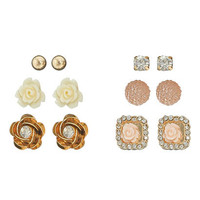 6 On Flower Earring Set | Shop Accessories at Wet Seal