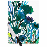 "Ebi Emporium ""Petal For Your Thoughts Teal"" Turquoise Green Cutting Board"