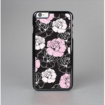 The Pink and Black Rose Pattern V3 Skin-Sert for the Apple iPhone 6 Skin-Sert Case