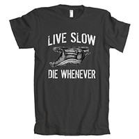 Live Slow Die Whenever Sloth American Apparel T-Shirt