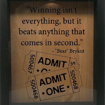 "Wooden Shadow Box Wine Cork/Bottle Cap Holder 9""x11"" - Winning isn't everything..."