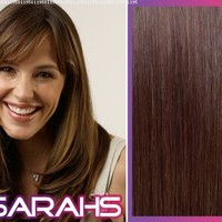 Clip in Human Hair Extensions - Chocolate Brown (4) - 14 inch Long - 120g Hair weight