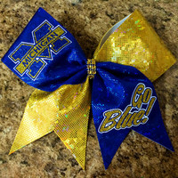 Michigan Cheer Bow