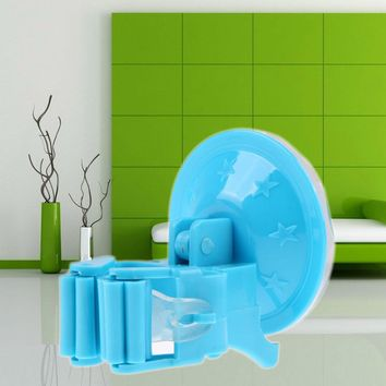 Plastic Bathroom Mops Holder Rack with Suctions Hanger Home Kitchen Storage Broom Organizer Wall Mounted Bathroom Accessories