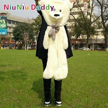 "Niuniu Daddy,80cm/31.5"" Inch,Plush Bear Skin ,semi-finished Toys Plush teddy bearskin birthday gift Free Shipping"