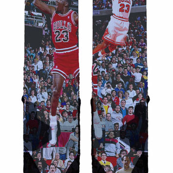 Michael Jordan Custom Nike Elite Socks