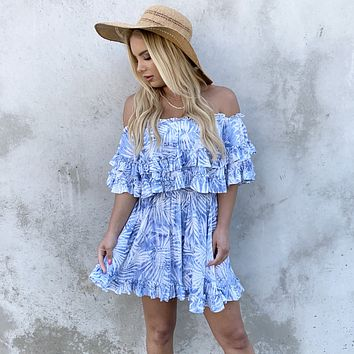 West Palm Beach Off Shoulder Ruffle Dress