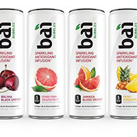Bai Bubbles Variety Pack, Sparkling Antioxidant Infused Beverage, 11.5 Ounce (Pack of 12)