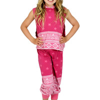 Dirtee Hollywood Dance Fuschia Aztec Star Pants | Mod Angel