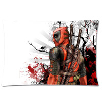 White DeadPool Pillow Case